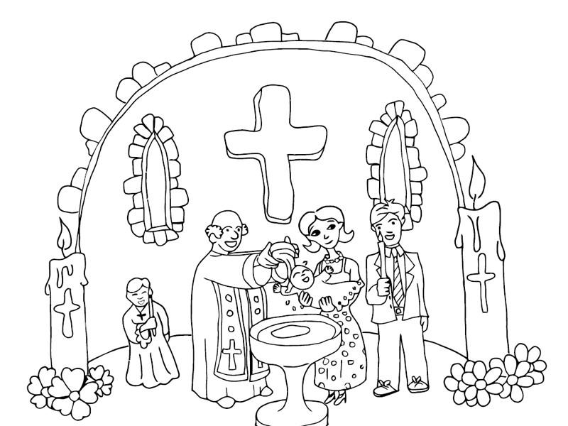 Baptism Coloring Pages For Kids  Sacrament of Baptism