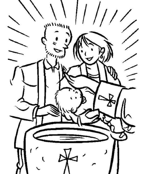 Baptism Coloring Pages For Kids  Christening Free Colouring Pages