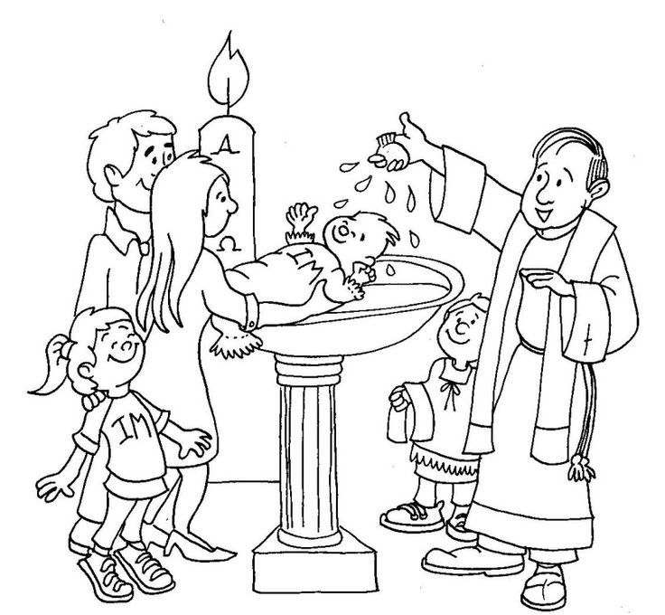 Baptism Coloring Pages For Kids  101 best images about Pray Learn Sacraments on Pinterest
