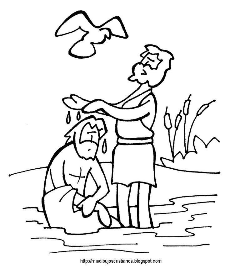 Baptism Coloring Pages For Kids  Baptism Jesus Coloring Page AZ Coloring Pages