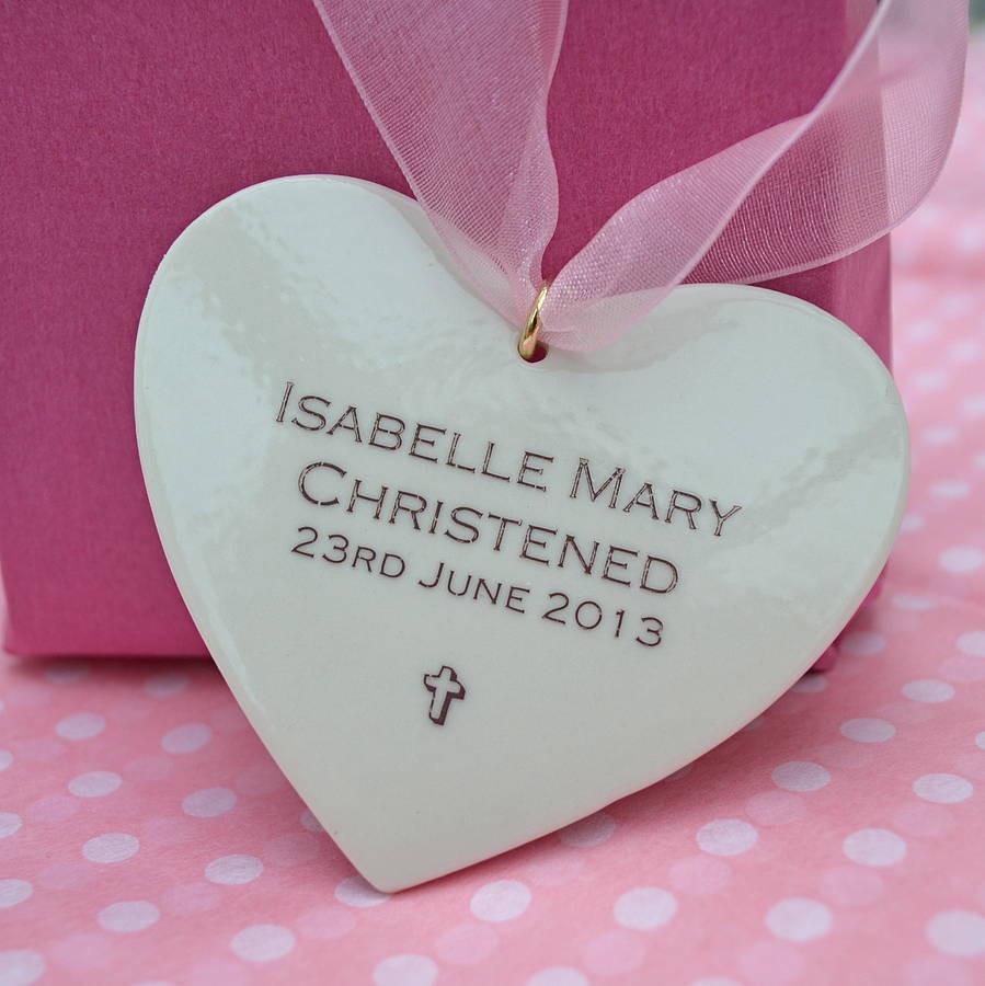 Baptism Gift Ideas For Baby Girl  personalised baby girl christening keepsake by carys boyle