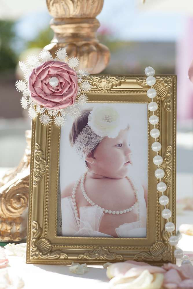 Baptism Gift Ideas For Baby Girl  Pink and Gold Baptism Party Ideas