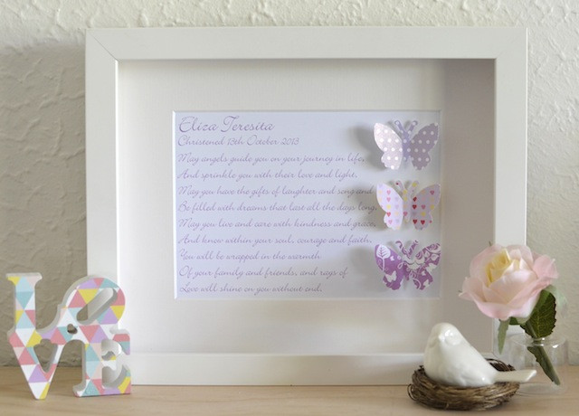 Baptism Gift Ideas For Baby Girl  New Baby Christening Baptism Personalised Gift Idea line