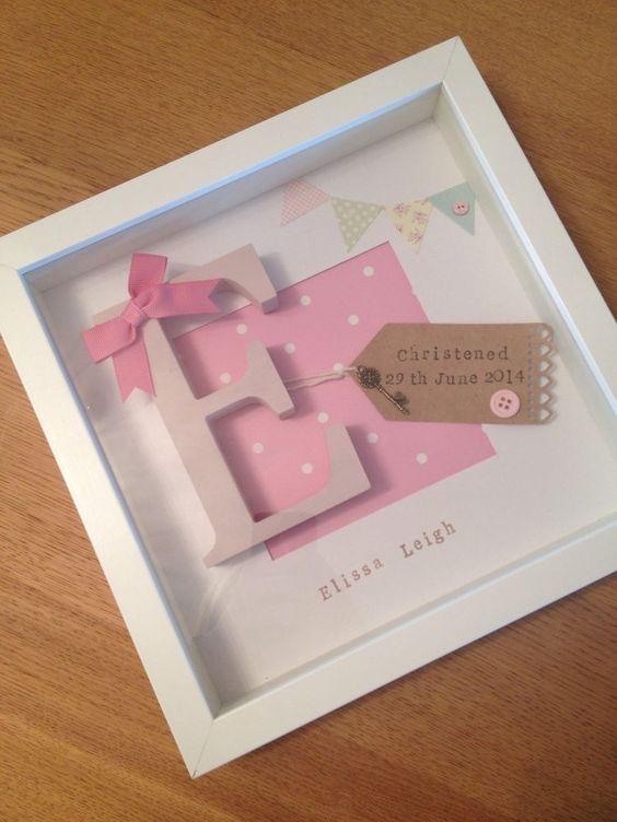 Baptism Gift Ideas For Baby Girl  Personalised Baby Girl Frame Birth Christening Gift