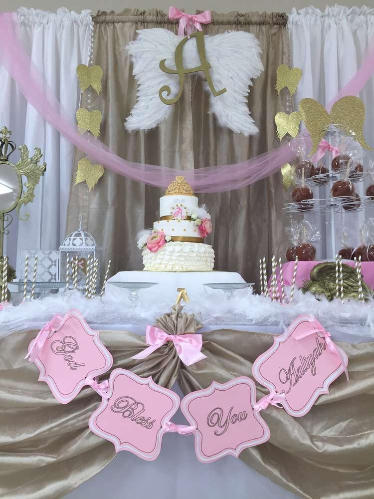 Baptism Gift Ideas For Girls  Angel Heaven Baptism Party Ideas in 2019