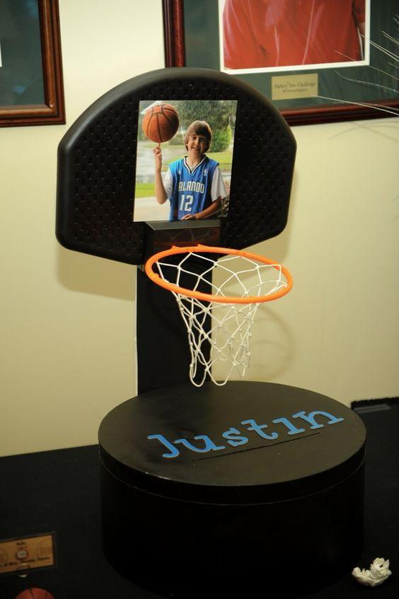 Bar Mitzvah Gift Ideas Boys  Basketball Themed Centerpieces