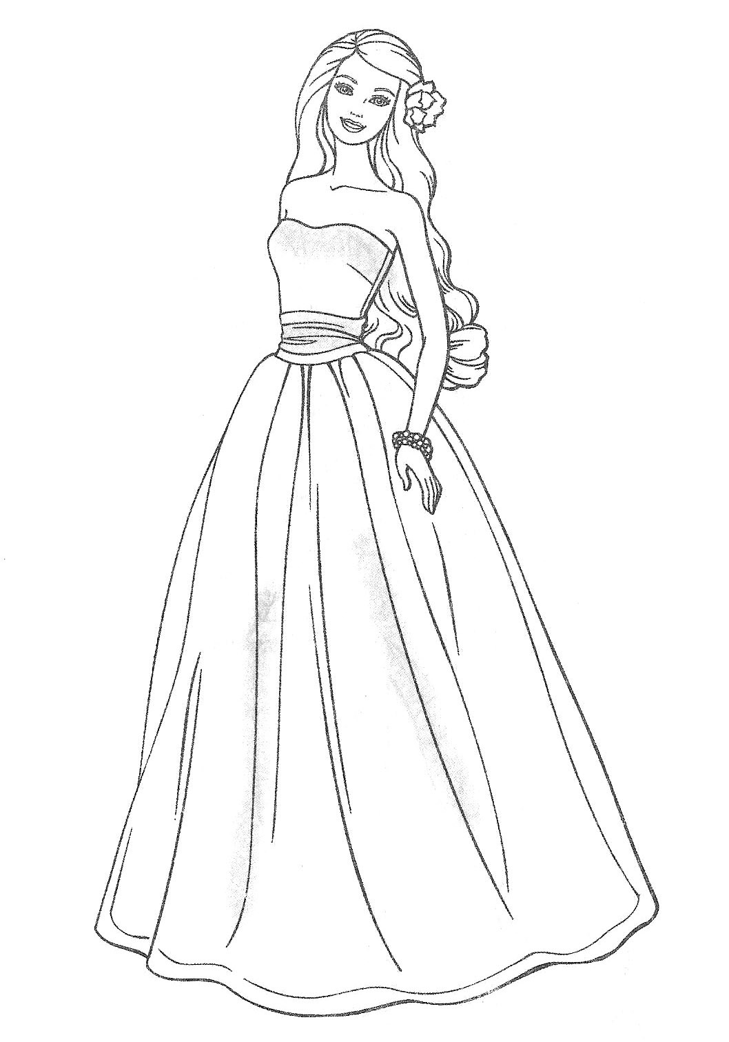 Barbie Doll Coloring Pages  elegant barbie coloring pages Free