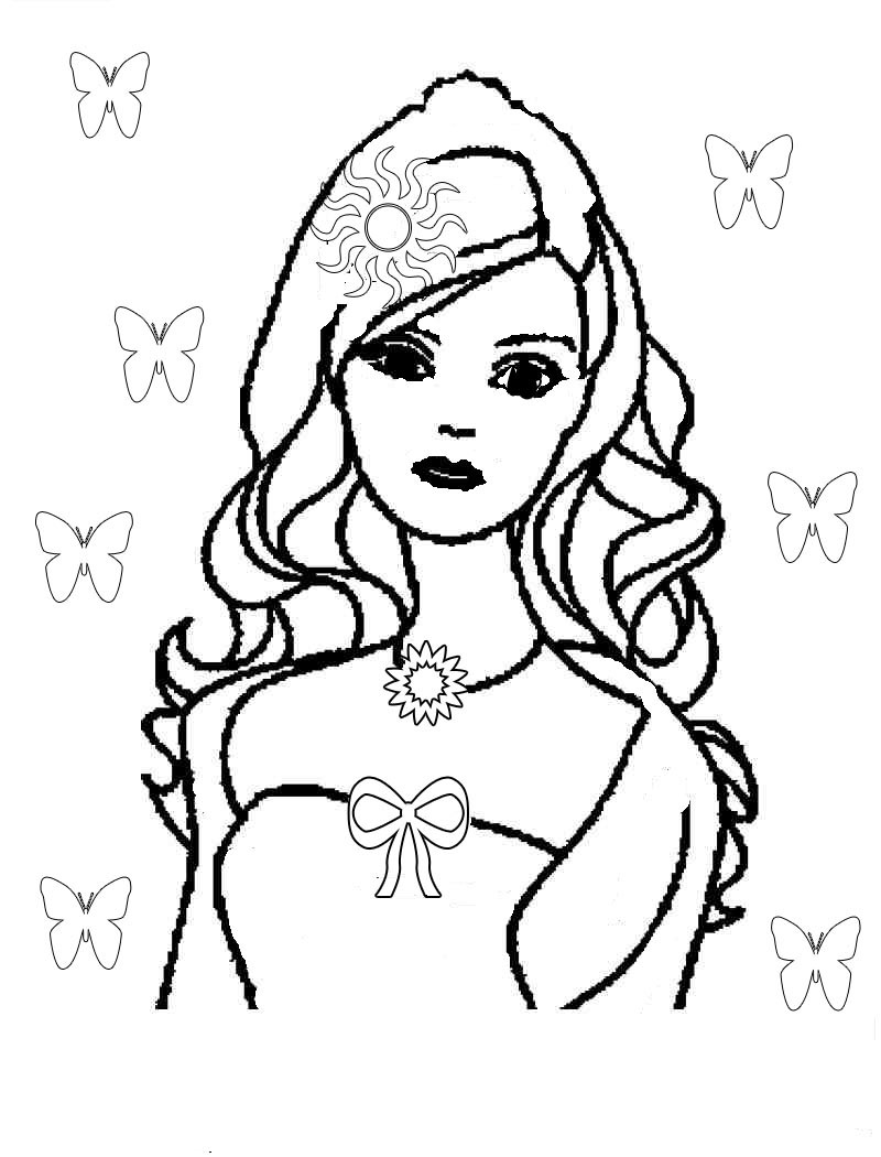Barbie Doll Coloring Pages  Barbie fashion doll uniquenew ts