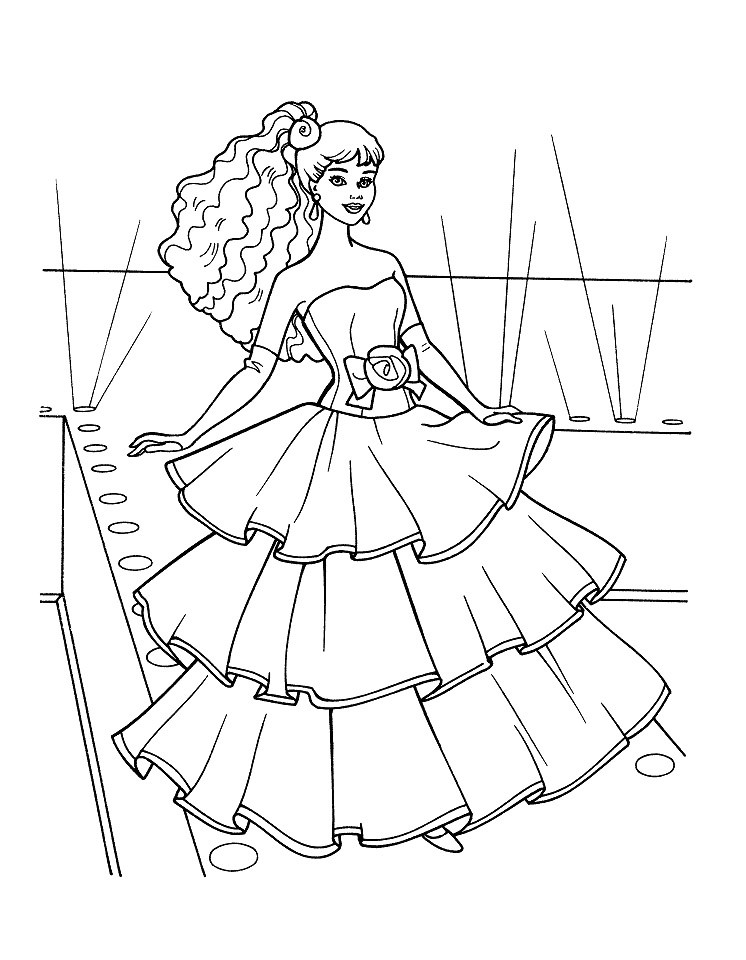 Barbie Doll Coloring Pages  Barbie Doll Coloring Pages AZ Coloring Pages