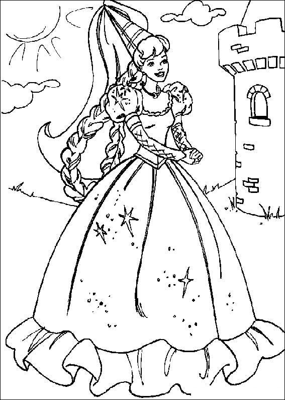 Barbie Doll Coloring Pages  Barbie Dolls Coloring Sheets For Kids Girls