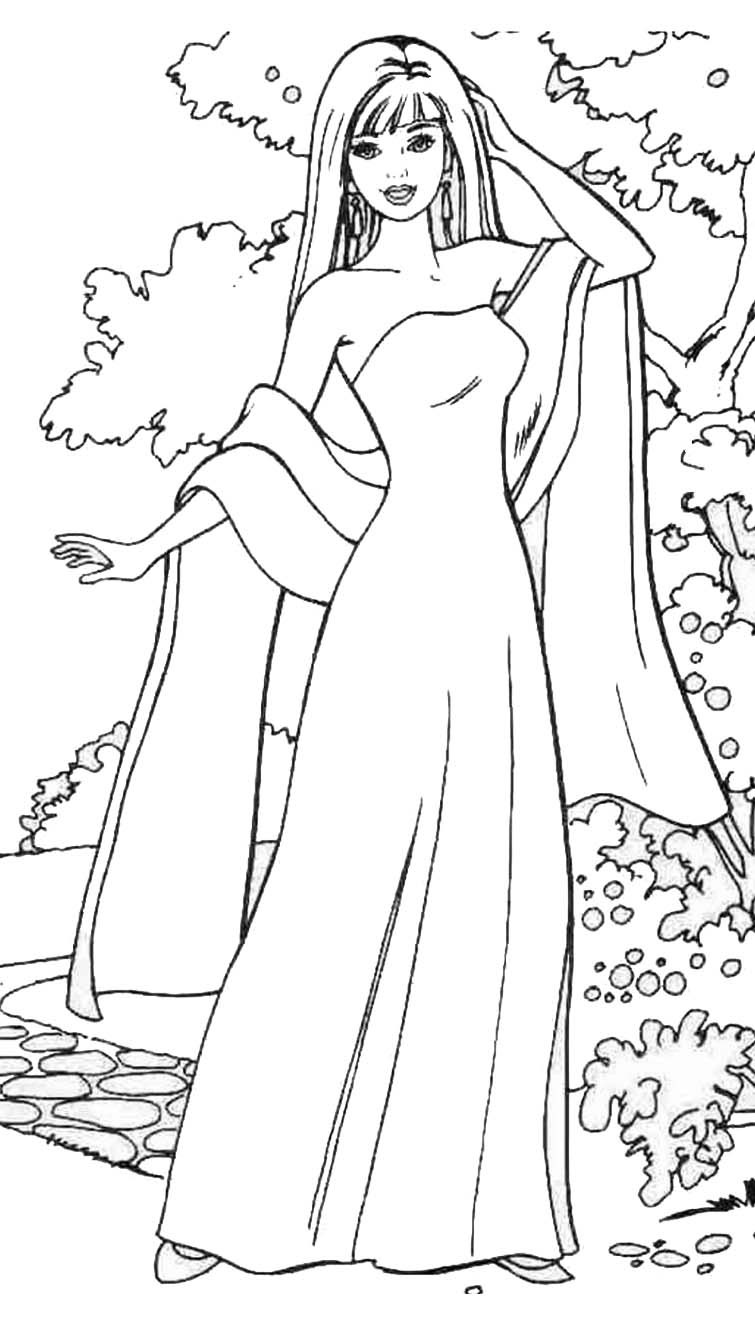 Barbie Doll Coloring Pages  Barbie Girl Coloring Pages