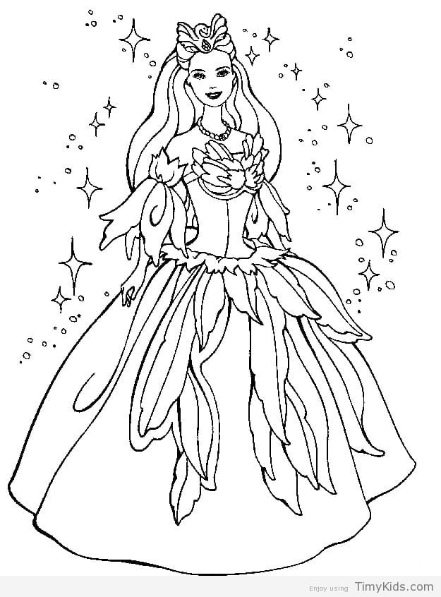 Barbie Doll Coloring Pages  barbie doll coloring pages