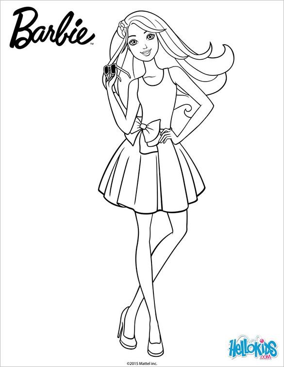 Barbie Doll Coloring Pages  20 Barbie Coloring Pages DOC PDF PNG JPEG EPS