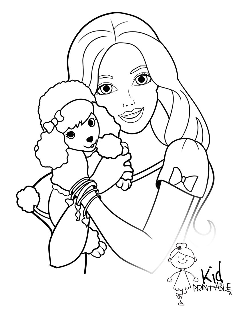 Best ideas about Barbie Free Coloring Pages . Save or Pin Barbie Easy Drawing at GetDrawings Now.