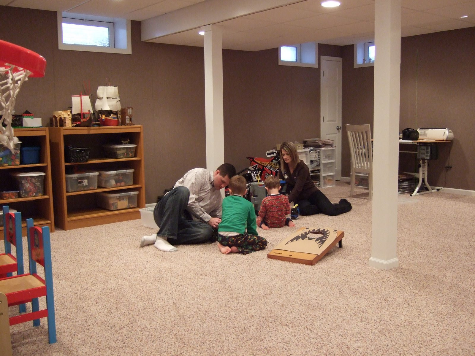 Best ideas about Basement Ideas Diy . Save or Pin A DIY basement Now.
