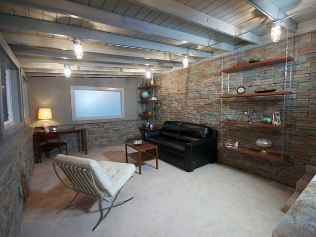 Best ideas about Basement Ideas Diy . Save or Pin Exceptional Diy Basement 6 Exposed Basement Ceiling Ideas Now.