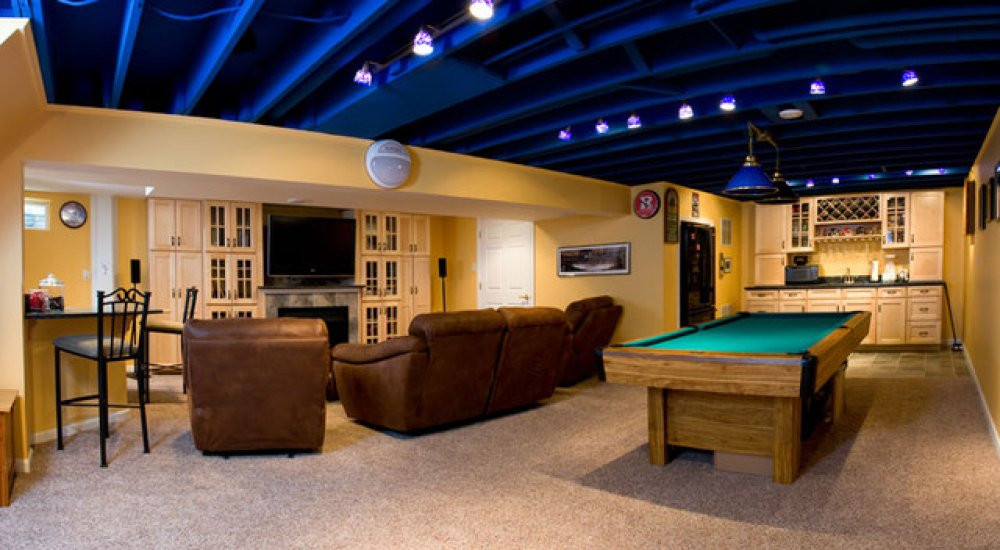 Best ideas about Basement Ideas Diy . Save or Pin Basement Ceiling Ideas with Beautiful Finishing Now.