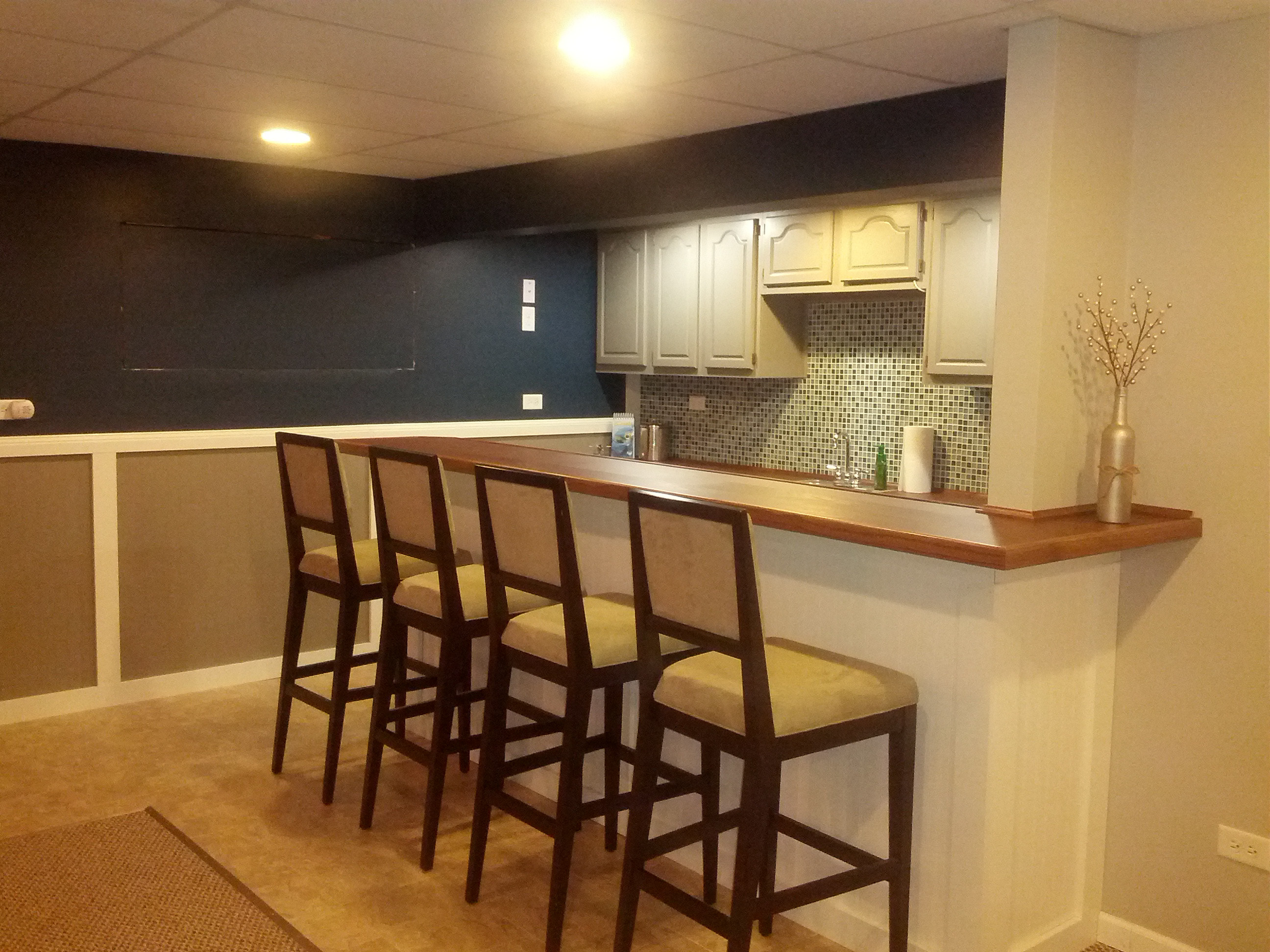 Best ideas about Basement Ideas Diy . Save or Pin DIY Basement Bar The Style Files Now.