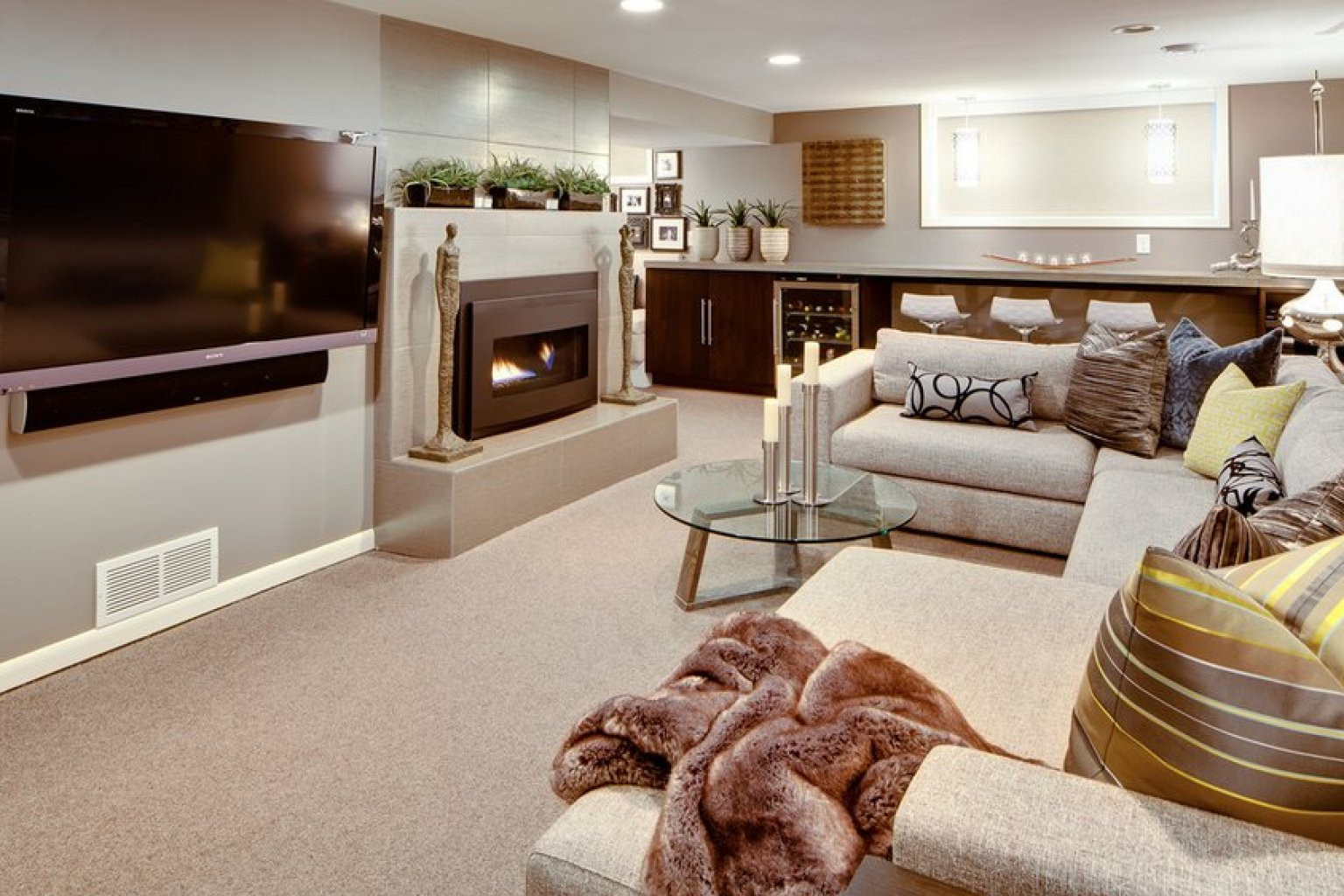 Best ideas about Basement Ideas Photos . Save or Pin 8 Awesome Basements We Wouldn t Mind Hang Out In All Now.