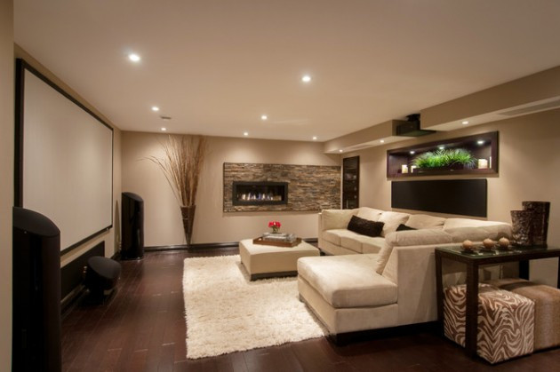 Best ideas about Basement Ideas Photos . Save or Pin 24 Stunning Ideas For Designing a Contemporary Basement Now.