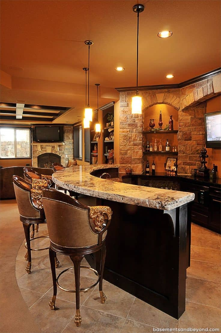 Best ideas about Basement Ideas With Bar . Save or Pin 52 Splendid Home Bar Ideas to Match Your Entertaining Now.