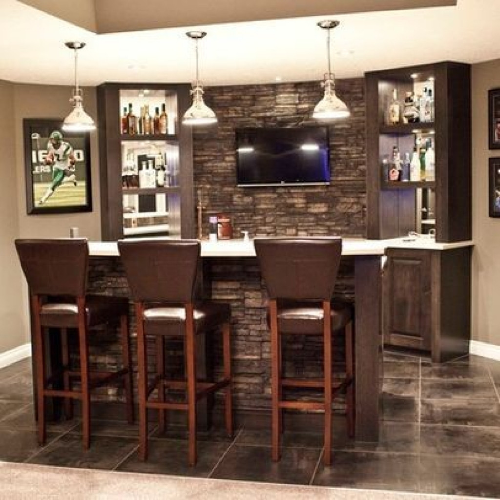 Best ideas about Basement Ideas With Bar . Save or Pin Decorate A Small Basement Bar Ideas — Cookwithalocal Home Now.