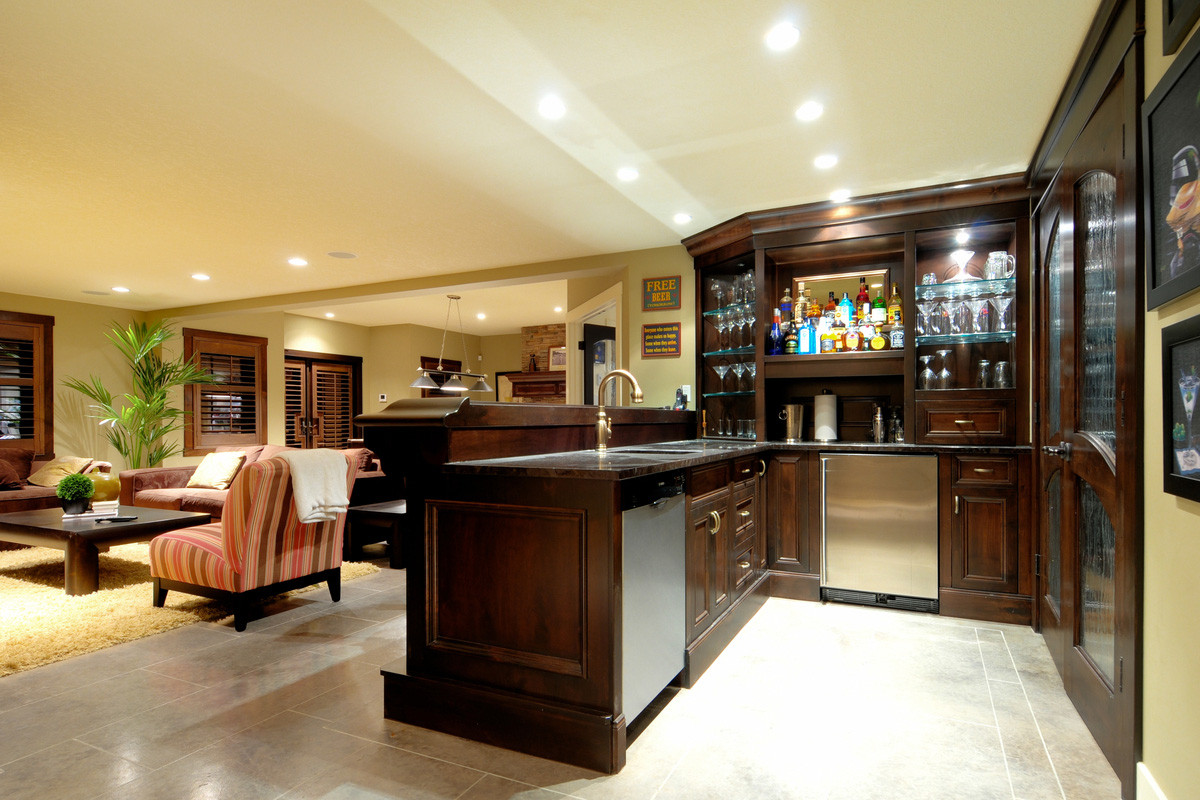 Best ideas about Basement Ideas With Bar . Save or Pin Themed Basement Bar Designs Now.