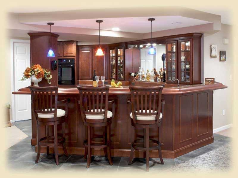 Best ideas about Basement Ideas With Bar . Save or Pin 15 Basement Kitchen Ideas Now.