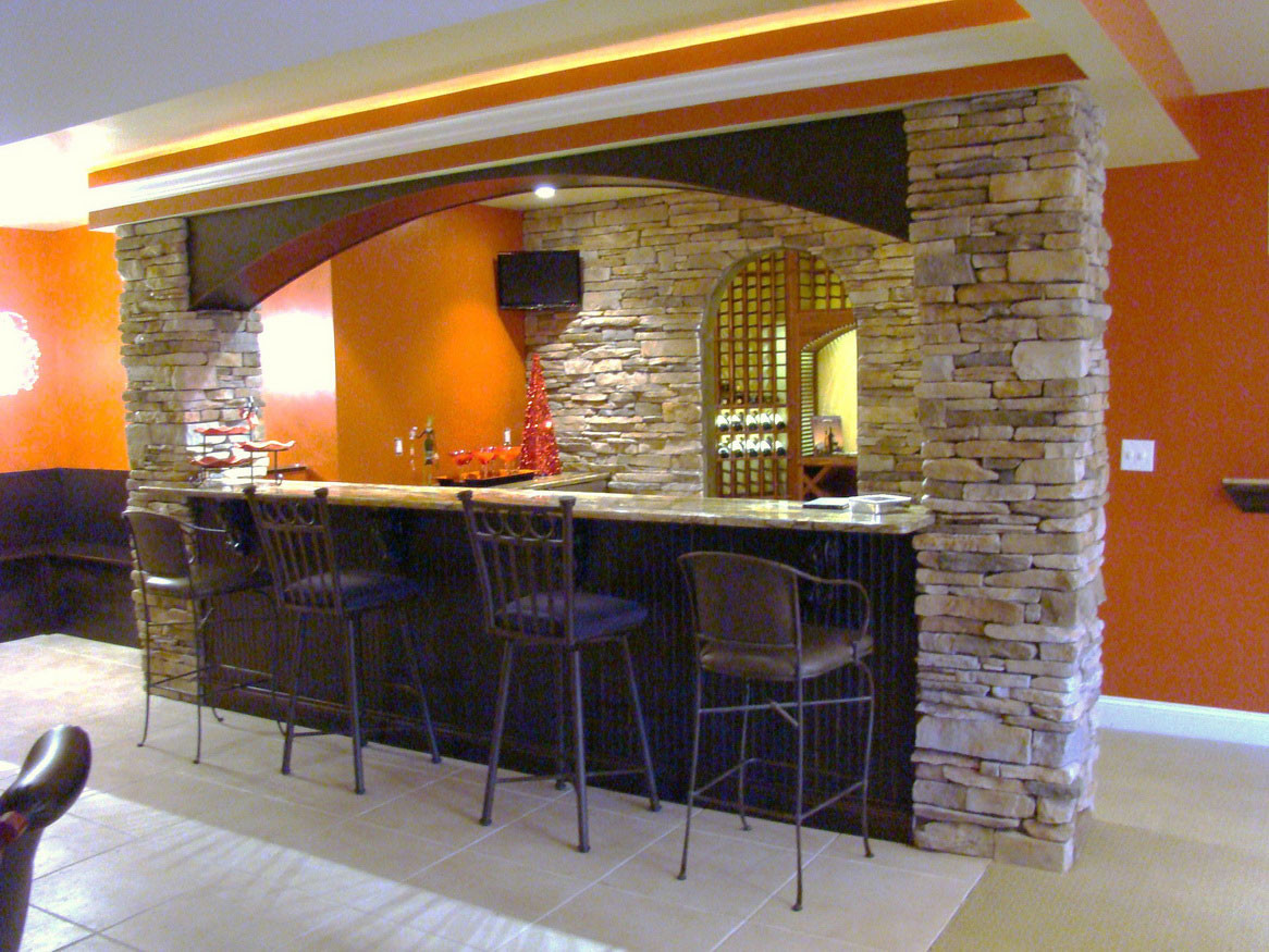 Best ideas about Basement Ideas With Bar . Save or Pin Having Fun In The Basement With These Basement Bar Ideas Now.