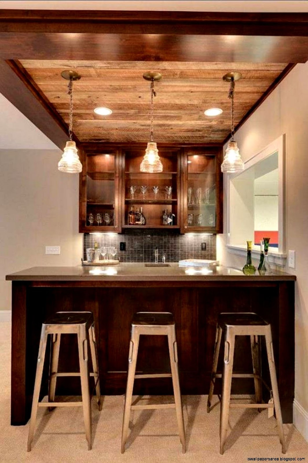 Best ideas about Basement Ideas With Bar . Save or Pin Home Wine Bar Design Ideas Now.
