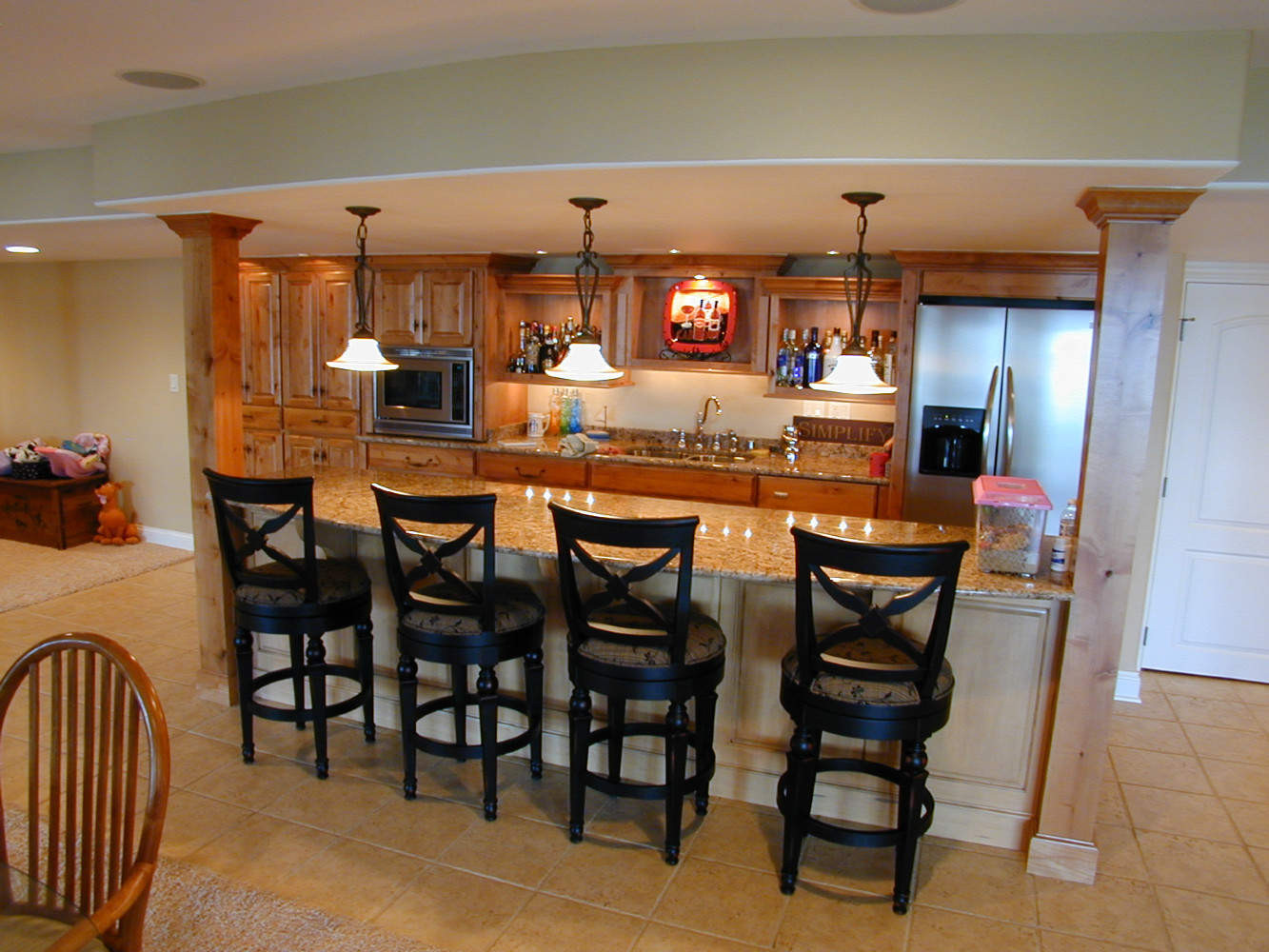 Best ideas about Basement Ideas With Bar . Save or Pin Personable Home Basement Bar Designs Idea Feat Wooden Now.
