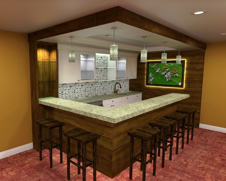 Best ideas about Basement Ideas With Bar . Save or Pin 34 Awesome Basement Bar Ideas and How To Make It With Low Now.