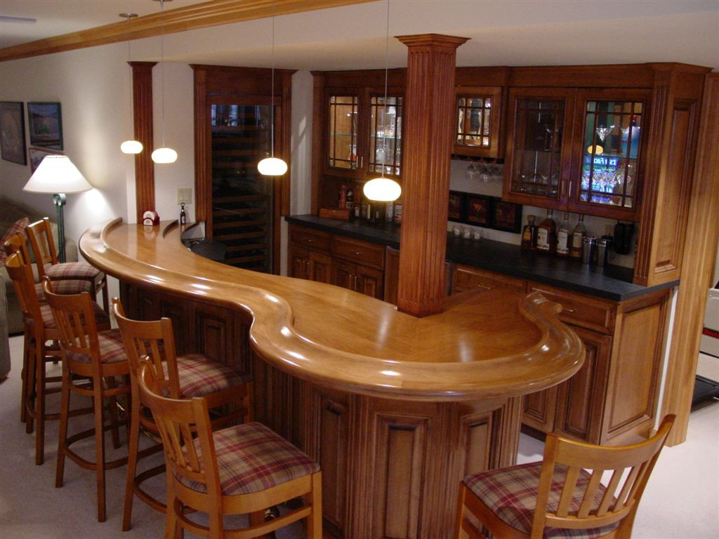 Best ideas about Basement Ideas With Bar . Save or Pin Decorating for a Best Basement bar Designs Now.