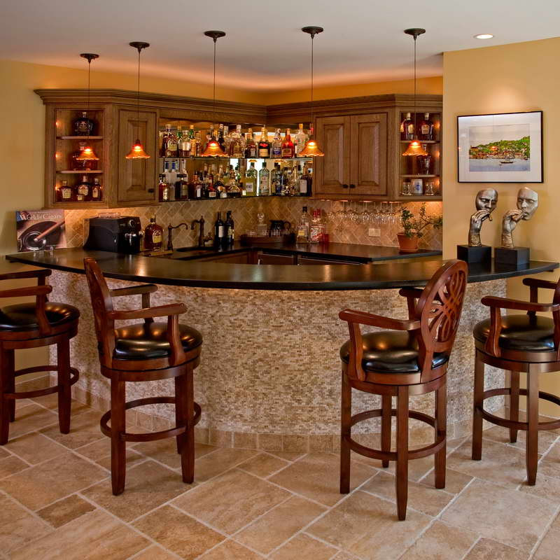 Best ideas about Basement Ideas With Bar . Save or Pin Basement Basement Bar Designs Interior Decoration and Now.