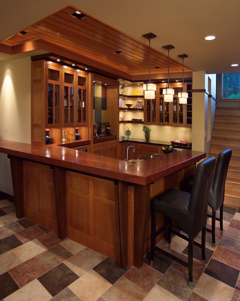 Best ideas about Basement Ideas With Bar . Save or Pin basement remodel ideas Basement Contemporary with aluminum Now.