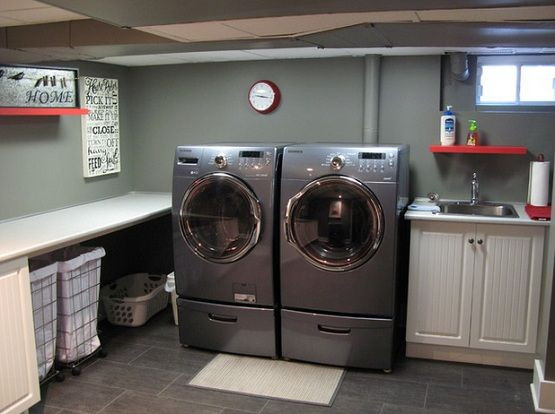Best ideas about Basement Laundry Room Ideas . Save or Pin 22 Ways to Make an Unfinished Basement Ideas You Should Now.