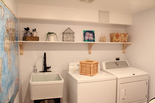 Best ideas about Basement Laundry Room Ideas . Save or Pin Basement Renovation Traditional Laundry Room boston Now.