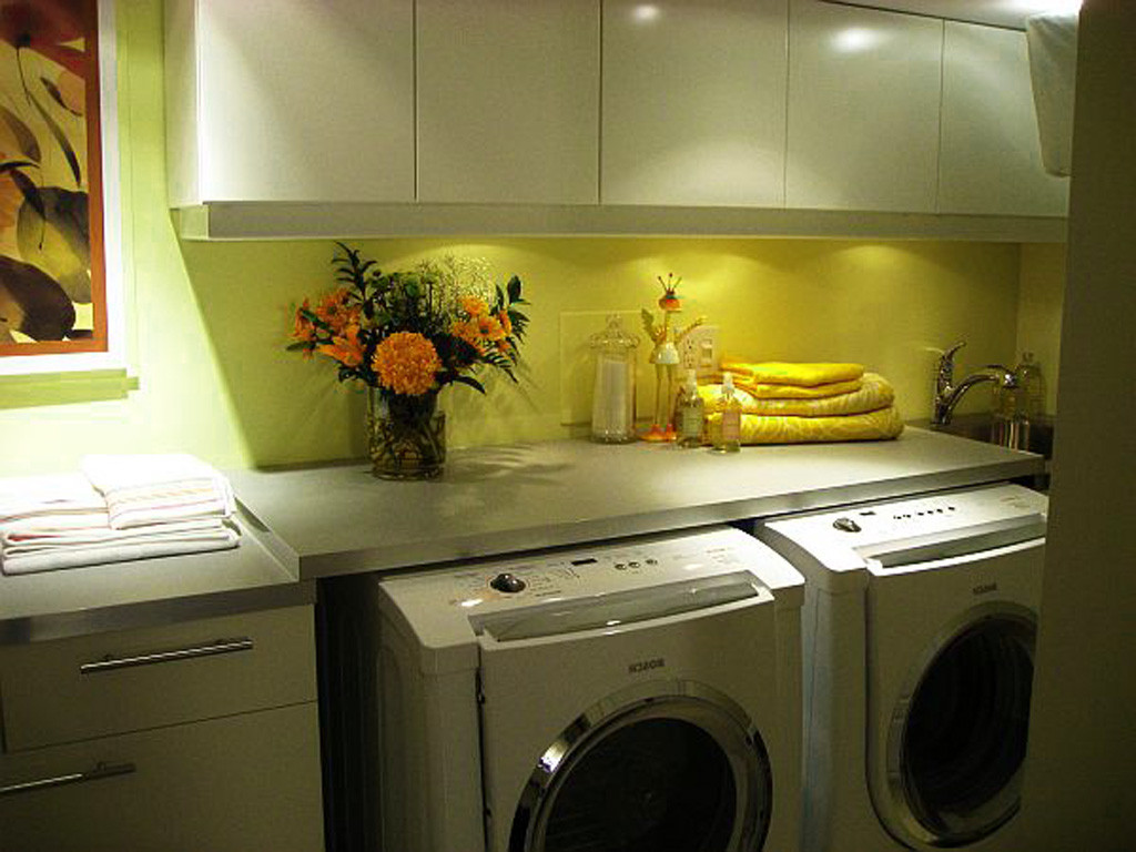 Best ideas about Basement Laundry Room Ideas . Save or Pin s Small Basement Laundry Room Idea a happy green Now.