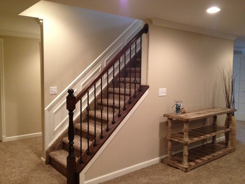 Best ideas about Basement Stair Railing . Save or Pin Stair Railing Stain Color Now.