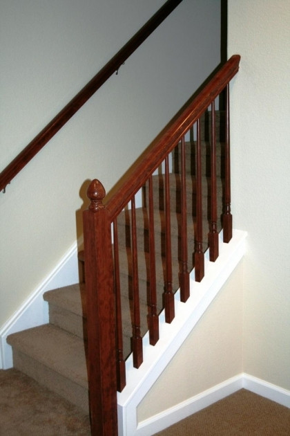 Best ideas about Basement Stair Railing . Save or Pin Basement Stairs Railing Stair Railing Pics 75 Now.