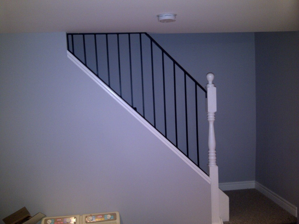 Best ideas about Basement Stair Railing . Save or Pin Basement Stair Handrail ponents Basement Stair Now.