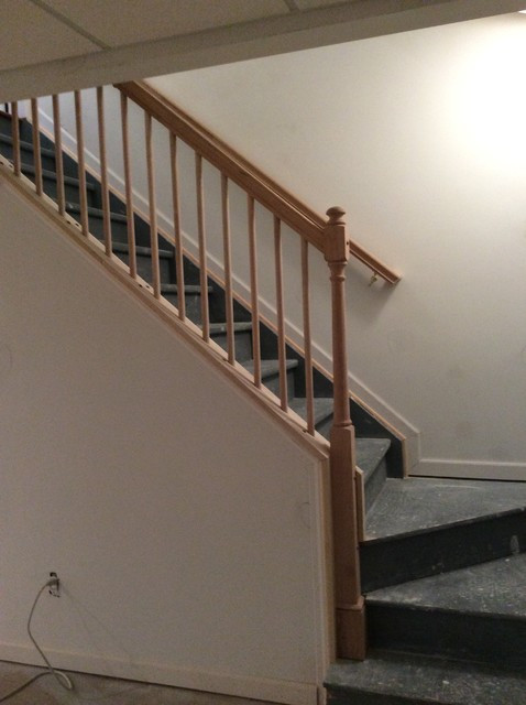 Best ideas about Basement Stair Railing . Save or Pin Removable Stair Railing Lake Orion Traditional Now.