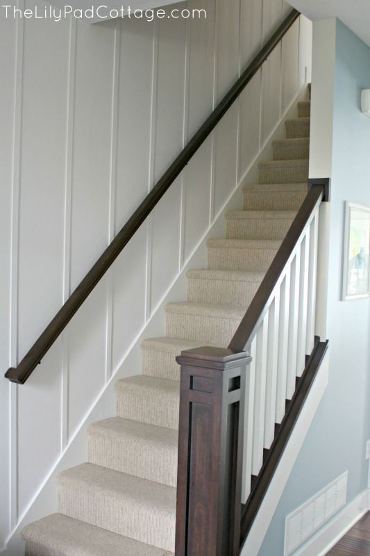 Best ideas about Basement Stair Railing . Save or Pin New Entry Decor and Planked Wall Now.