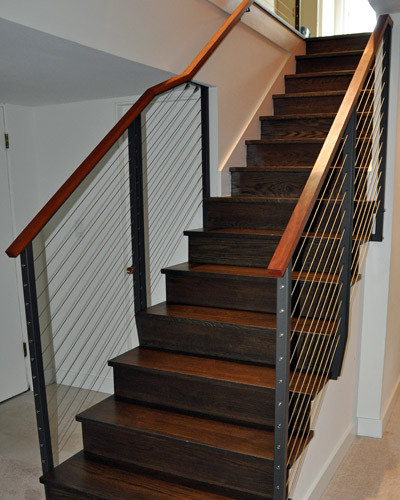 Best ideas about Basement Stair Railing . Save or Pin Stairs and Railing Projects Ventana Construction Seattle Now.