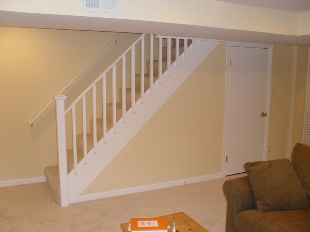 Best ideas about Basement Stair Railing . Save or Pin Basement stair railing Design Basement stair railing Now.