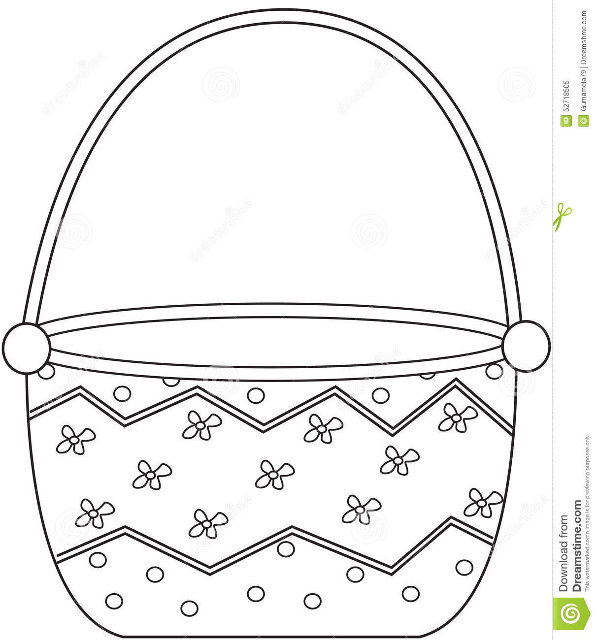 Basket Coloring Pages  Basket Coloring Page Stock Illustration Image