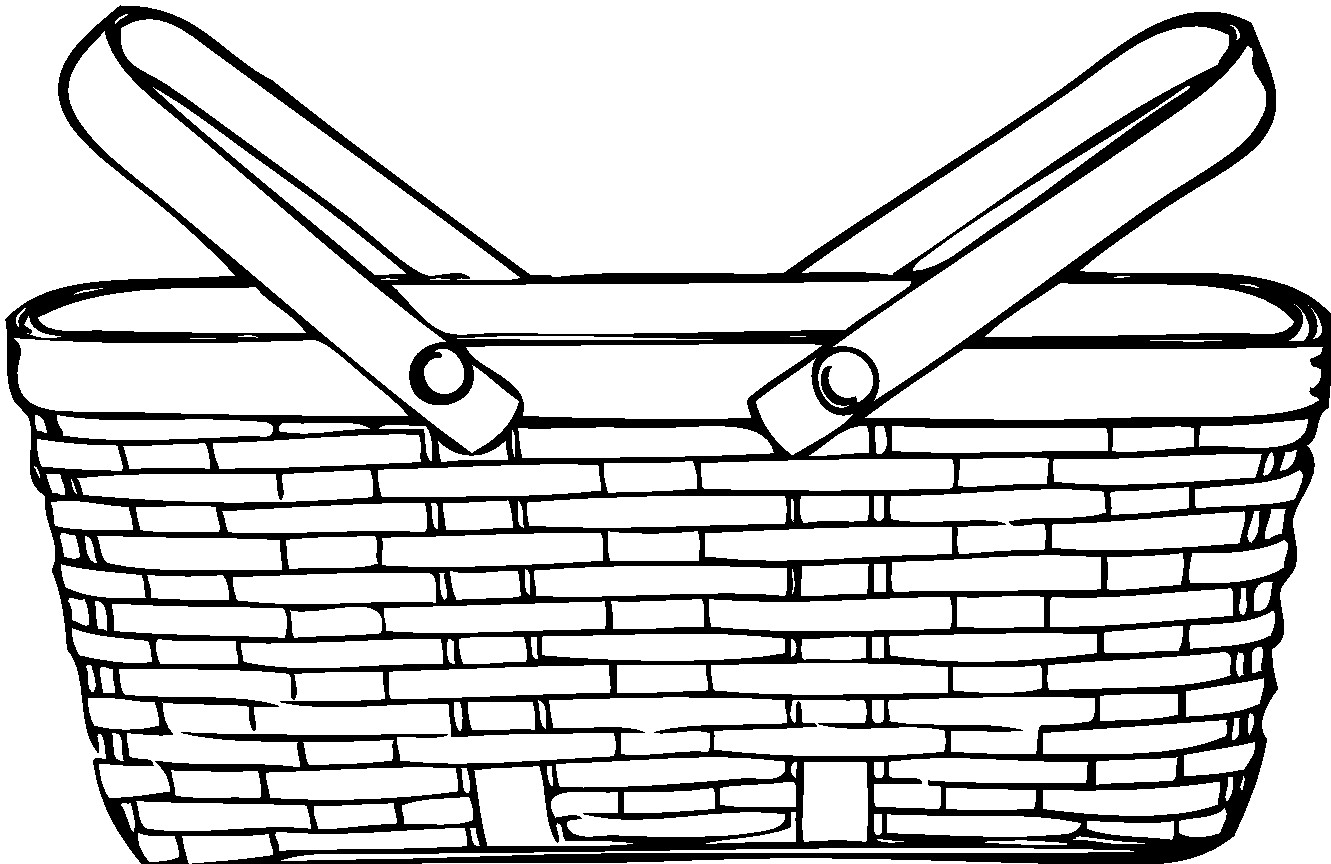 Basket Coloring Pages  Empty Basket Coloring Page Coloring Home