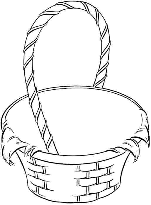 Basket Coloring Pages  Empty Easter Basket Coloring Pages – Color Bros