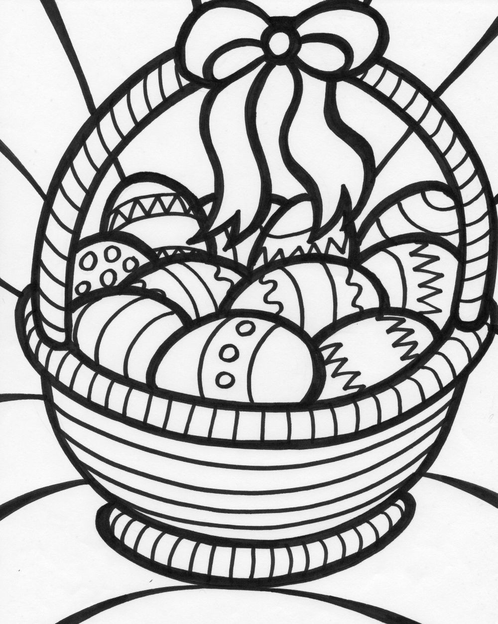 Basket Coloring Pages  Free Coloring Pages