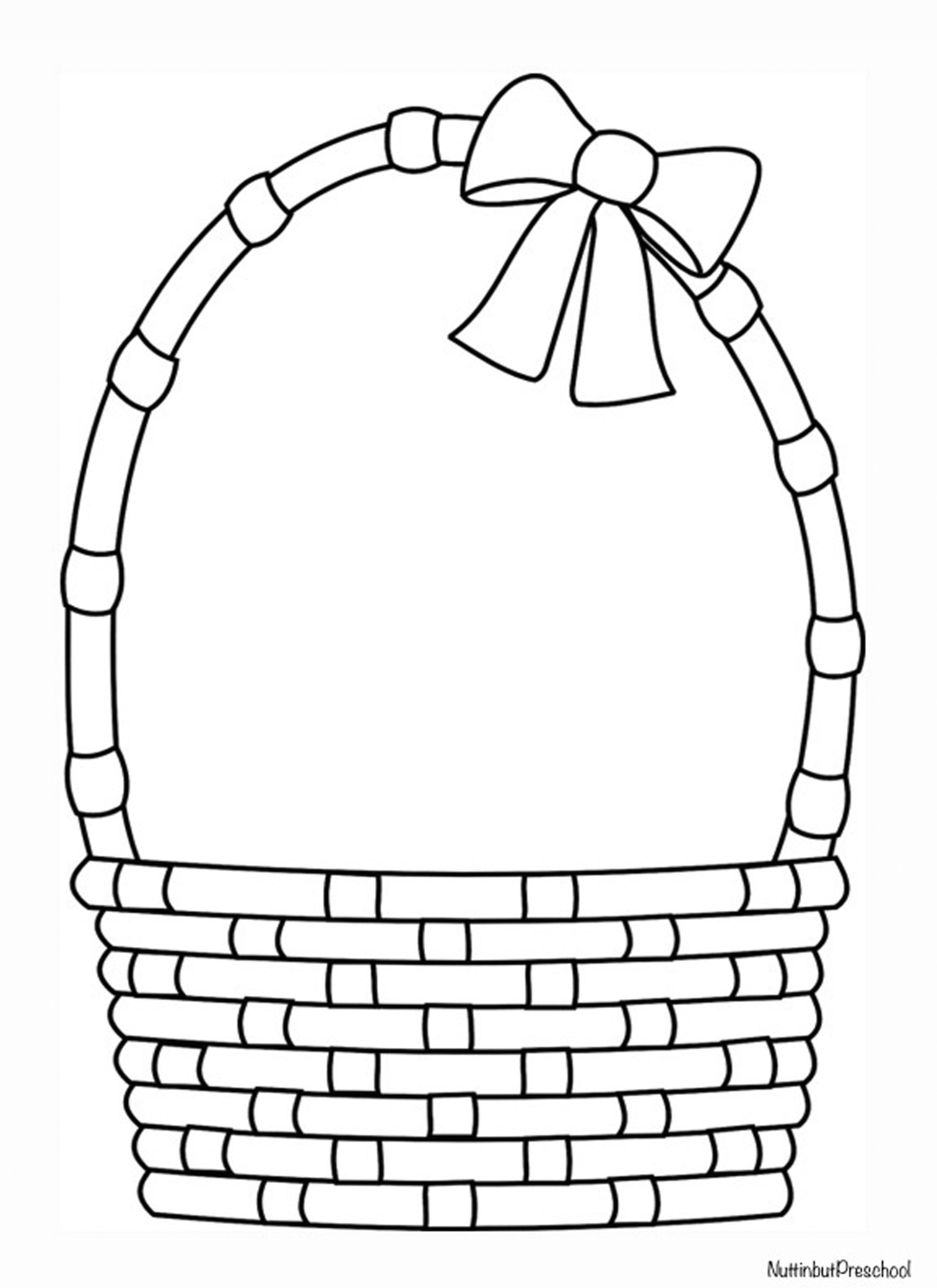 Basket Coloring Pages  Easter Archives